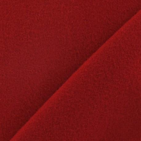 Tissu cachemire rouge carmin x 10cm
