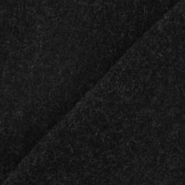 ♥ Coupon 130 cm X 150 cm ♥ Tissu cachemire gris foncé