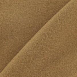 ♥ Coupon tissu 45 cm X 140 cm ♥ cachemire sable foncé