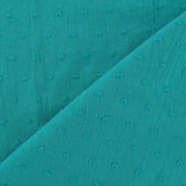 Tissu Plumetis lagoon x 10cm