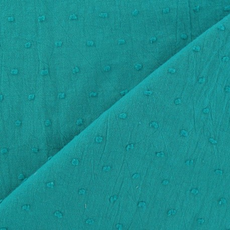 Fabric Plumetis lagoon x 10cm