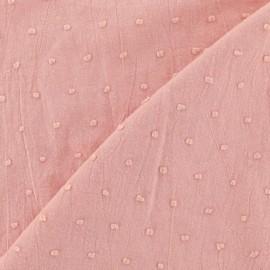 Tissu Plumetis coton - rose camay x 10cm