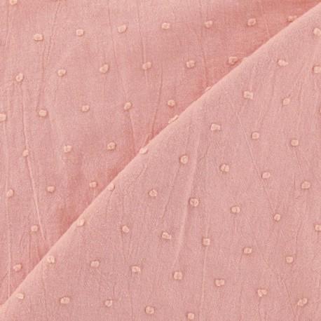 Tissu Plumetis rose camay x 10cm