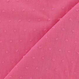 Tissu Plumetis coton - rose x 10cm
