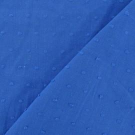 Tissu Plumetis bleu roy x 10cm