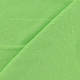 Oeko-Tex Plumetis Cotton Fabric - Lime Green x 10cm