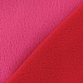 Tissu Polaire bicolore rouge / fuchsia x 10cm