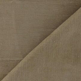 Tissu velours milleraies élasthanne sable x10cm
