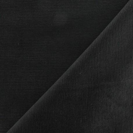 Tissu velours milleraies élasthanne gris x10cm