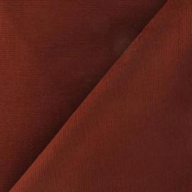 Milleraies elastane velvet fabric  - brick x10cm