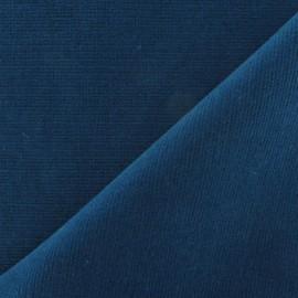 Tissu velours milleraies élasthanne paon x10cm