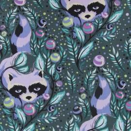 Tissu Racoon Blueberry x 10cm