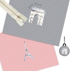 Kit couture pochette Tour Eiffel 17/21 cm