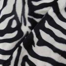 Zebra fur - Black and white x 10cm