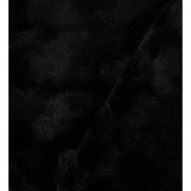 Fourrure fantaisie rosace noire x 10cm