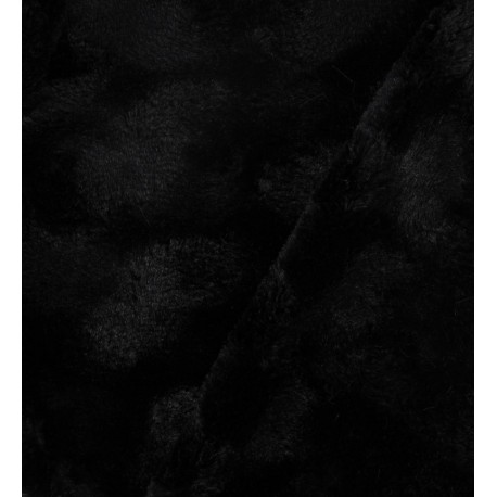 Rosace fantasy fur - Black x 10cm