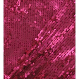 ♥ Coupon 250 cm X 130 cm ♥ Tissu paillettes sirène fuchsia