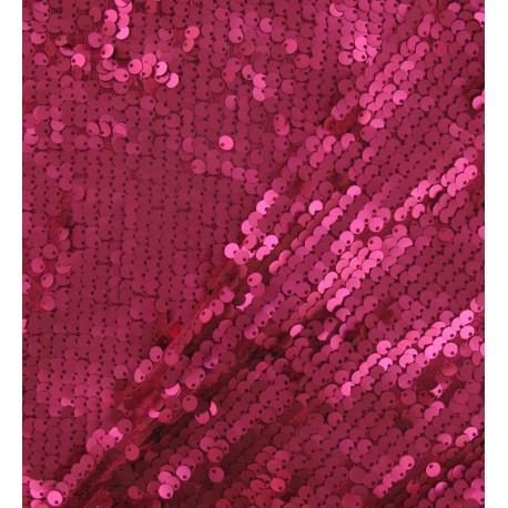Mermaid Sequin Fabric - fuchsia x 10cm