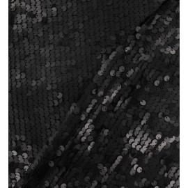 Tissu paillettes sirène noire x 10cm