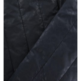 ♥ Coupon tissu 80 cm X 150 cm ♥ doublure matelassée effet léopard bleu marine
