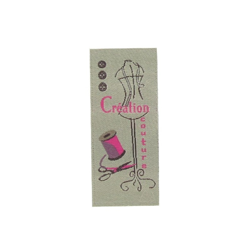 Label cr ation couture taupe fuchsia ma petite mercerie for Couture labels