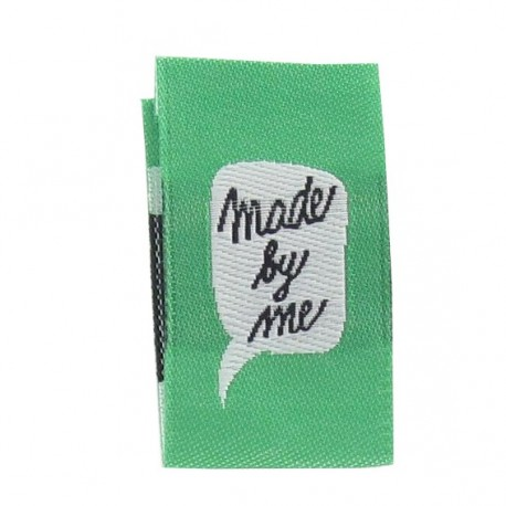 """Label """"Made by me"""" to fold - green"""