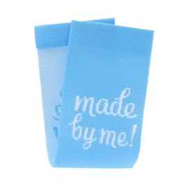 "Label ""Made by me"" to fold - light blue"