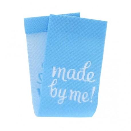 Etiquette made by me bleu à plier