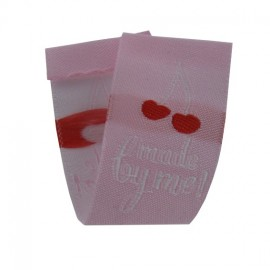 """Label """"Made by me"""" to fold - cherry red"""