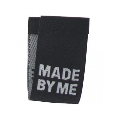 Etiquette made by me noire à plier