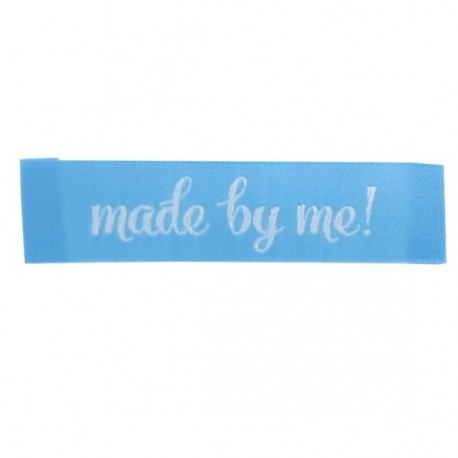 """Label """"Made by me"""" - turquoise"""