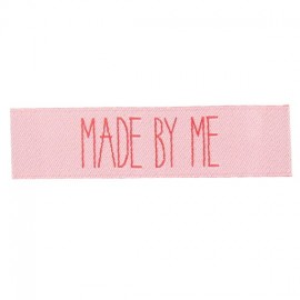 "Label ""Made by me"" - pale pink"