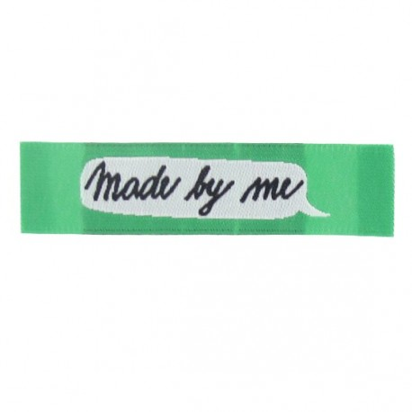 """Label """"Made by me"""" - green"""
