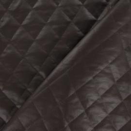 Tissu doublure matelassée carreaux marron glacé x 10cm