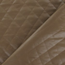 Diamond Quilt Quilted Lining Fabric - Camel x 10cm