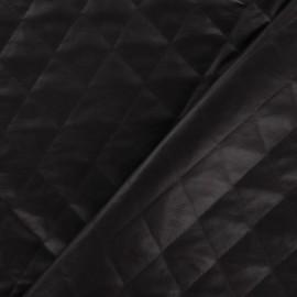 Tissu doublure matelassée carreaux chocolat noir x 10cm