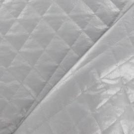 Tissu doublure matelassée carreaux argenté x 10cm