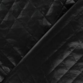 Tissu doublure matelassée carreaux noir brillant x 10cm