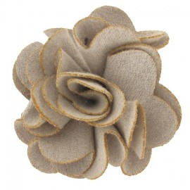 Pompom Dahlia brooch - taupe