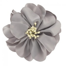 Silk aspect brooch - grey