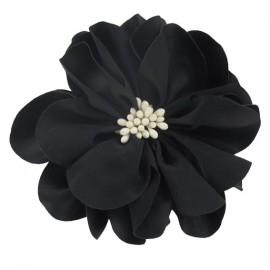 broche aspect soie noire