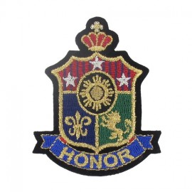 Honor badge iron-on applique - multicolored
