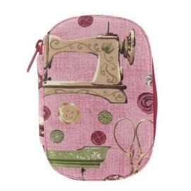 Pochette à couture rose