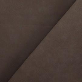 Imitation leather suede - chocolate x 10cm