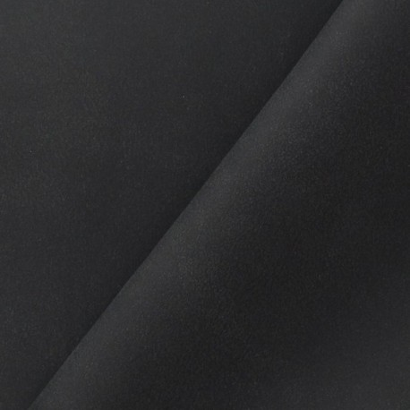 Imitation leather suede - black x 10cm