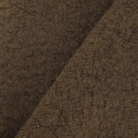 Tissu Tweed sur Jersey noisette x 10cm