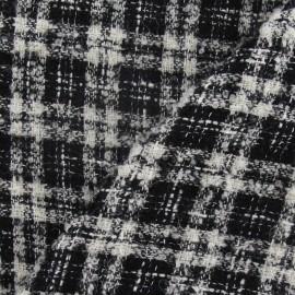 Tissu Tweed Vichy noir et blanc x 10cm