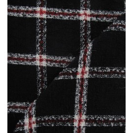 Tweed big checked - red and black x 10cm