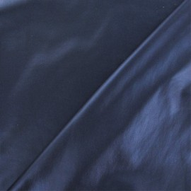 Flexible coated fabric - pearly blue x 10cm