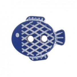 Bouton petit poisson bleu